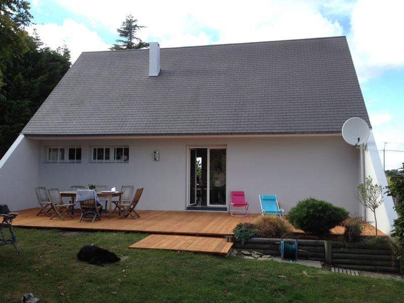 chantier ravalement peinture extérieure granville