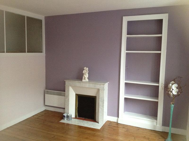 peinture intérieure chambre violet