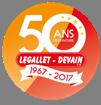 logo 50 ans legallet devain peinture