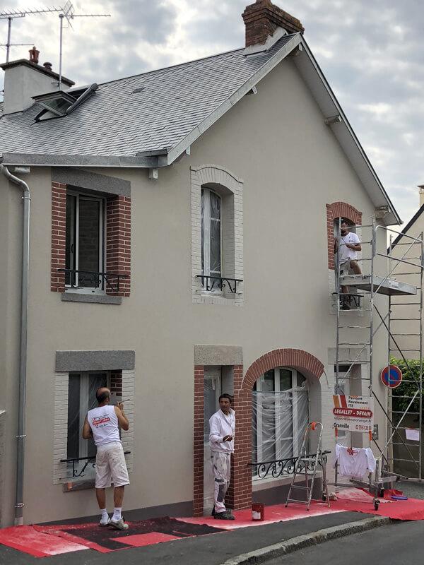 ravalement façade à granville et décoration peintre